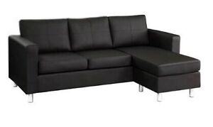 Reversible faux leather sectional. Like new