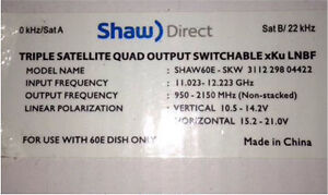 New Shaw direct satellite.