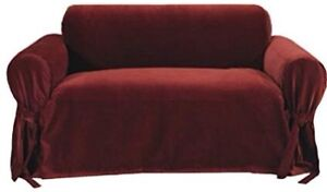 Sure fit Burgundy red loveseat cover (Still Available )