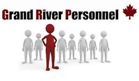 GRAND RIVER PERSONNEL IS HIRING TODAY!!