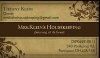 Trustworthy, dependable and detailed housekeeping