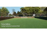 Friendly 5-a-side every week at Lammas Park Pitch in South Ealing and looking for more players!