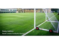 Weekly Monday football at Woodhouse college, North Finchley