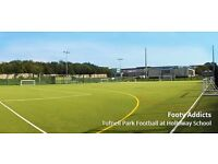 Casual 6 a side game played every Monday at 8pm