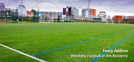 Weekly football on a 3G pitch in Wembley needs players