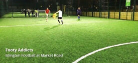 Monday 6pm 5aside, Caledonian road - new players needed