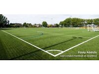 7pm, 8pm and 9pm KO times to play friendly 8 a side Football in Leyton today