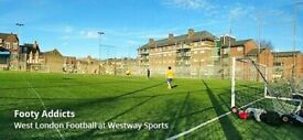Mid-day 8-a-side football at Westway Sports Centre. Everyone welcome!