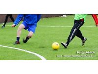 Monday 5-a-side football in Mile End, 8pm KO, friendly game