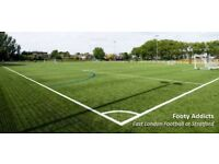 Friendly 8-a-side football in Leyton on Monday 8pm and 9pm Looking for more players