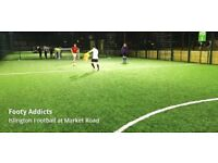 NEW PITCH! 5-a-side football in Islington every Tuesday from 6pm to 9pm, looking for more players!