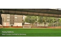 Players need urgently for casual football game - Footy every Monday at 3pm in West London