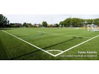 Play friendly 8 a side football games in Leyton. All skills welcome.