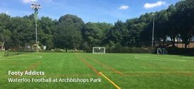 Regular Saturday football games in 4G pitch in Central London - Waterloo