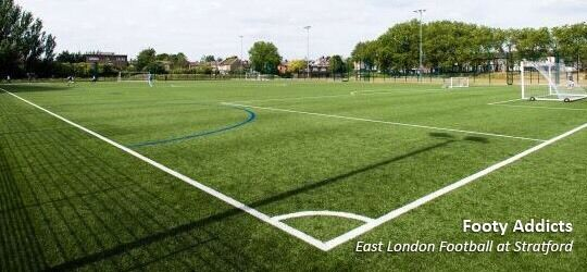 Get your weekly dose of footy every Tuesday in Leyton. Open to anyone.