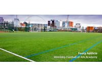 Play casual 8 a side football every Tuesday in Wembley Park