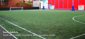 Friendly 6-a-side in Battersea every Thursday. Mixed ability, open age group. Need more players