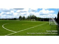 Join friendly/casual 8 a side football games in Stratford on the weekend