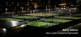 Weekly 5-A-side football Shepherds Bush all through the week. All welcome to join!
