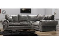 Scs crushed velvet sofa with FREE #FOOTSTOOL