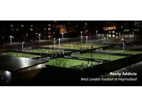 Friendly 5-a-side footy in Shepherds Bush. Every Monday. All welcome.