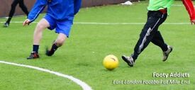 Players needed for a causal/friendly football game in Mile End every Friday