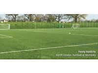 Thursday evening casual football in Wembley needs players!
