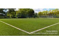 Afternoon casual football close to Highbury & Islington station