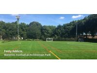 Casual 8-a-side football in archbichops Park - WATERLOO Very good pitch 8 Aside
