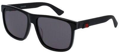 Gucci GG0010S BLACK/GREY 58/16/145 Herren Sonnenbrillen