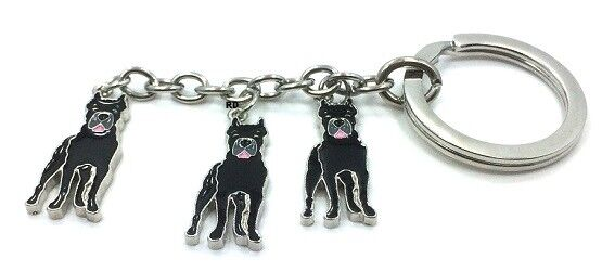 Mastiff  Key Chain or Purse Charm 3 Dogs attached