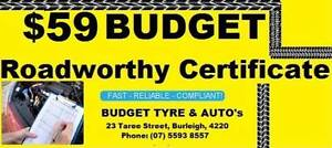 $59 BUDGET ROADWORTHY CERTIFICATES BURLEIGHo755938557 Burleigh Heads Gold Coast South Preview