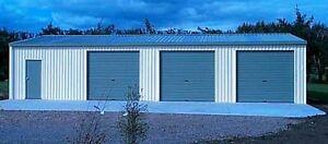 Steel Metal HOT ROD Garage 3 Car Kit 1008 sq ft