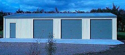 Steel Metal Hot Rod Garage 3 Car Shop Area Kit 1008 Sq Ft