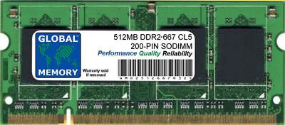 512MB DDR2 667MHz PC2-5300 200-PIN Memoria Sodimm RAM para Portátiles/Netbooks segunda mano  Embacar hacia Argentina
