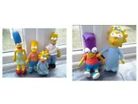 LARGE SIMPSONS TOYS - MARG BART HOMER MAGGIE - COLLECTABLES - TV MEMORABILIA