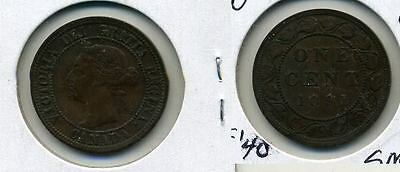 1891 CANADA LARGE CENT LARGE LEAVE COIN XF