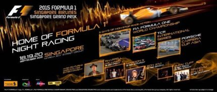 2015 Formula 1 Singapore Grand Prix tickets Bondi Junction Eastern Suburbs Preview