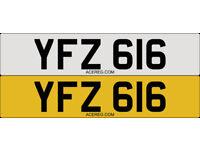 YFZ 616 Personalised Number Plate Audi BMW Volvo Ford Evo Subaru Honda Toyota Kia GTI M3 RS