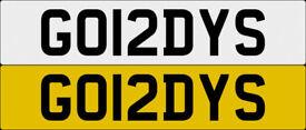 GO12DYS GORDYS GORDON One off Cherished Personalised Number Plate AUDI GOLF MERCEDES LEXUS PORSCHE