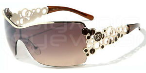 DG Eyewear Oversized Rimless Rhinestone Fashion Sunglasses 337