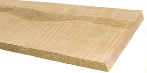 Rough 4/4 Brown Maple Lumber - Kiln Dried - End Grain Sealed