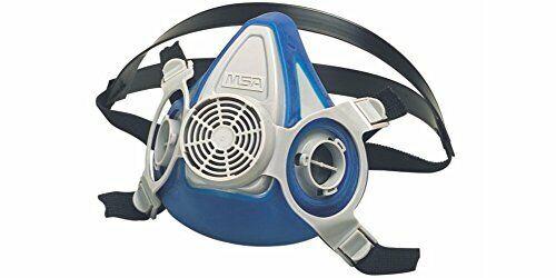 MSA 815700 RESPIRATOR 200 LS Facepieces, Large, Double Neckstrap, Blue