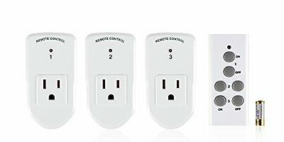 BN-LINK Wireless Remote Control Outlet Switch,3 Remote Sockets +1 Remote Control White Control Switch