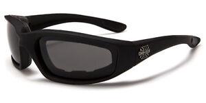 Choppers Motorradbrille Bikerbrille Sonnenbrille Iron Cross Anti Fog gepolstert
