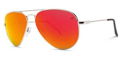 Elektrischer Visuell AV1 Groß David Gonzales / Ohm Grau Fire Chrom Sonnenbrille