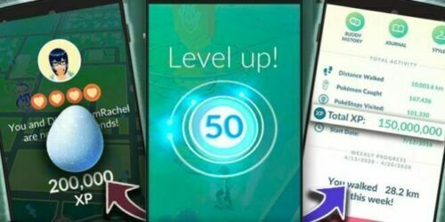 Pokémon GO 10.000.000 XP - 1.000.000 STARDUST + 15 SHINYS OR MORE (RANDOM) FARM