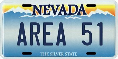 Area 51 Nevada Aluminum License Plate