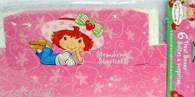 STRAWBERRY SHORTCAKE Best Friends FAVOR BOXES (6) ~ Birthday Party Supplies - Strawberry Shortcake Favor Boxes