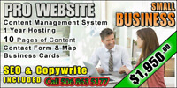 Revamp or build a new website.  Call today